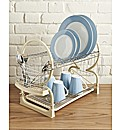 Two-Tier Dish Drainer Cream