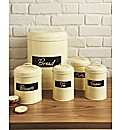 Vintage 5 Piece Cream Storage Set