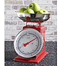 Retro Kitchen Scales Red