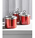 Morphy Richards Set of Three Canisters