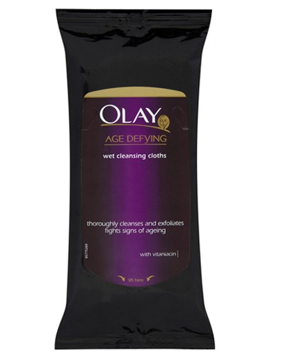 Image of Olay Age Defying Cleansing Cloths 20's
