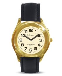 Talking Mans Gold Finish Analogue Watch