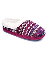 Totes Fairisle Mule Slippers