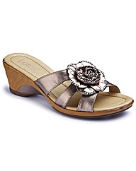 Lotus Wedge Flower Mules EEE Fit
