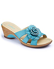 Lotus Wedge Flower Mules EEEEE Fit