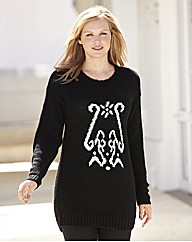 Batwing Jumper With Center Detail