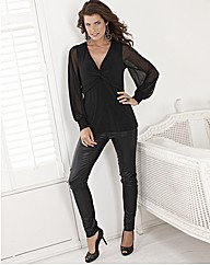 Coleen Nolan Skinny Jean Wax Look 30in