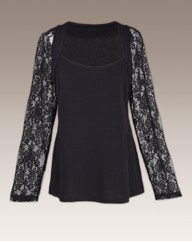 Coleen Nolan Top With Lace Sleeves
