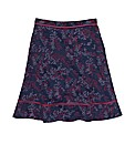 Weirdfish Printed Cord Skirt