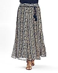 Tribal Print Maxi Skirt