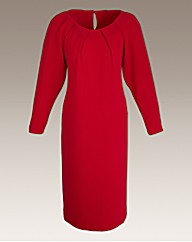 Roland Klein Dress With Pleat Detail
