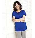 Arlene Phillips Lace Insert Lounge Top