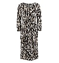 Muted Camouflage Print Jersey Dress