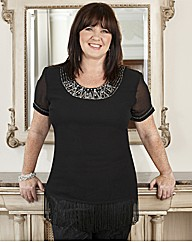 Coleen Nolan Top with Fringe 31in