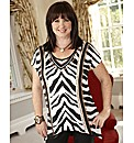 Coleen Nolan High Low Hem Jersey Top