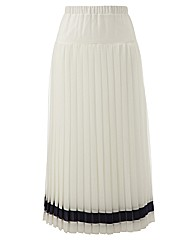 Roland Klein Contrast Pleat Skirt 32in