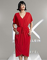 Roland Klein Draped Jersey Dress 40in