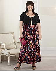 Coleen Nolan Butterfly Print Maxi Dress