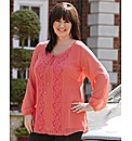 Coleen Nolan Lace Trim Georgette Tunic