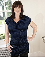 Coleen Nolan Cowl Neck Dew Drop Top