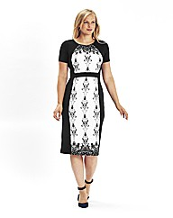 Mark Heyes Deco Floral Illiuson Dress