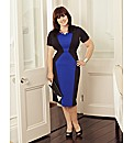 Coleen Nolan Colour Block Illusion Dress