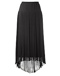 Roland Klein Pleated Hi Low Hem Skirt 37