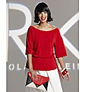 Roland Klein Soft Peplum Jersey Top