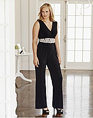 Changes Boutique Jumpsuit With Lace