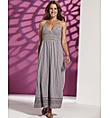 Lazy Lu Cut Work Maxi Dress Length 52in