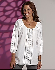 Lazy Lu Cutwork Tunic
