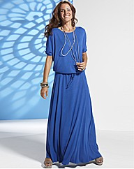 Lazy Lu Rib Jersey Long Maxi Dress 54in