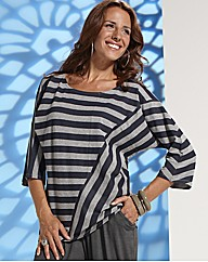 Lazy Lu Striped Jersey Top