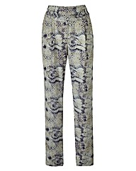 Snake Print Trousers Length 28in