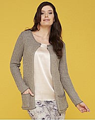 Metallic Knit Cardigan Length 27in 69cm