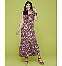 Ditsy Print Maxi Dress Length 52in