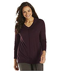 Lazy Lu V Neck Knitted Tunic