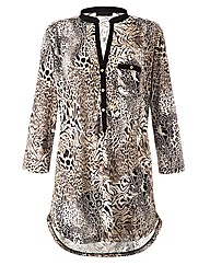 Coleen Nolan Petite Animal Print Top
