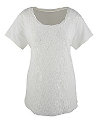 Changes Lace Tunic With Shaped Hem