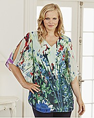 Changes Boutique Botanical Print Tunic