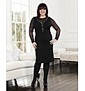 Coleen Nolan Mesh Beaded Dress