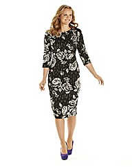 Ava By Mark Heyes Petite Print Dress