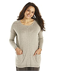 Lazy Lu Zip Back Knitted Tunic 27in