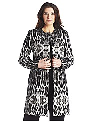 Animal Metallic Fibre Jacquard Coat