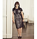 Coleen Nolan Animal Print Illusion Dress
