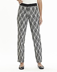Tribal Print Jacquard Trouser