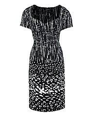 Coleen Nolan Monochrome Print Dress