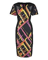 Illusion Print Dress