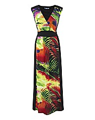Coleen Nolan Illusion Panel Maxi Dress