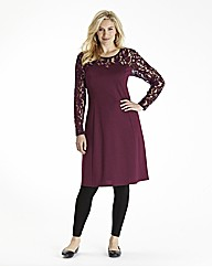 Pampelmousse Lace Top Skater Dress